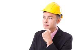 Σκέψη επιχειρηματιών κατασκευής Στοκ Εικόνες