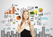 Σκέψη επιχειρηματιών στοκ εικόνα με δικαίωμα ελεύθερης χρήσης