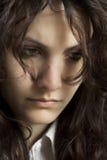 σκέψη κοριτσιών Στοκ φωτογραφία με δικαίωμα ελεύθερης χρήσης