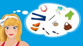 Σκέψη κοριτσιών Στοκ εικόνες με δικαίωμα ελεύθερης χρήσης
