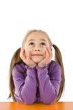 σκέψη κοριτσιών Στοκ φωτογραφίες με δικαίωμα ελεύθερης χρήσης