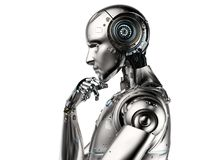 Σκέψη ρομπότ AI ελεύθερη απεικόνιση δικαιώματος