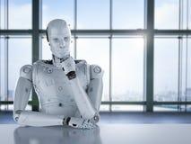 Σκέψη ρομπότ Humanoid διανυσματική απεικόνιση