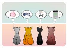Σκέψη τη γάτα Στοκ εικόνα με δικαίωμα ελεύθερης χρήσης