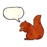 σκίουρος κινούμενων σχεδίων με τη λεκτική φυσαλίδα Στοκ εικόνες με δικαίωμα ελεύθερης χρήσης