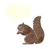 σκίουρος κινούμενων σχεδίων με τη λεκτική φυσαλίδα Στοκ φωτογραφία με δικαίωμα ελεύθερης χρήσης
