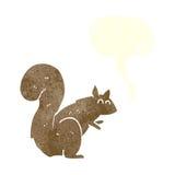 σκίουρος κινούμενων σχεδίων με τη λεκτική φυσαλίδα Στοκ Εικόνες