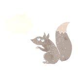 σκίουρος κινούμενων σχεδίων με τη σκεπτόμενη φυσαλίδα Στοκ εικόνες με δικαίωμα ελεύθερης χρήσης