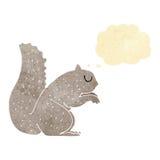 σκίουρος κινούμενων σχεδίων με τη σκεπτόμενη φυσαλίδα Στοκ Εικόνες