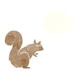 σκίουρος κινούμενων σχεδίων με τη σκεπτόμενη φυσαλίδα Στοκ φωτογραφίες με δικαίωμα ελεύθερης χρήσης