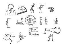 σκίτσα επιχειρηματιών Στοκ φωτογραφία με δικαίωμα ελεύθερης χρήσης