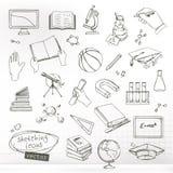 Σκίτσα μελέτης και εκπαίδευσης απεικόνιση αποθεμάτων