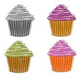 Σκίτσα του cupcake Στοκ Εικόνα