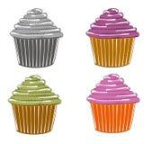 Σκίτσα του cupcake Στοκ εικόνα με δικαίωμα ελεύθερης χρήσης