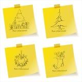 σκίτσα Χριστουγέννων Στοκ εικόνες με δικαίωμα ελεύθερης χρήσης