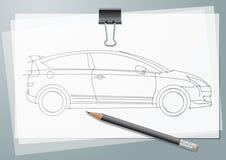 σκίτσο αυτοκινήτων Στοκ φωτογραφία με δικαίωμα ελεύθερης χρήσης