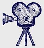Σκίτσο βιντεοκάμερα ελεύθερη απεικόνιση δικαιώματος