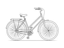 Σκίτσο γραμμών ποδηλάτων απεικόνιση αποθεμάτων
