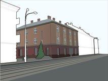 σκίτσο γωνιών οικοδόμηση&si Στοκ εικόνες με δικαίωμα ελεύθερης χρήσης
