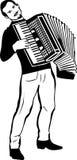 Σκίτσο ενός ατόμου που παίζει το ακκορντέον απεικόνιση αποθεμάτων