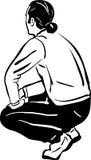 Σκίτσο ενός ατόμου που σκύβεται Στοκ φωτογραφία με δικαίωμα ελεύθερης χρήσης