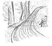 Σκίτσο ενός δρόμου στο πάρκο Στοκ Εικόνες