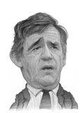 Σκίτσο καρικατουρών του Gordon Brown Στοκ Εικόνα