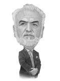 Σκίτσο καρικατουρών του Ivan Savidis Στοκ εικόνες με δικαίωμα ελεύθερης χρήσης