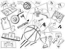 Σκίτσο καλαθοσφαίρισης Στοκ εικόνες με δικαίωμα ελεύθερης χρήσης