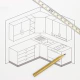 Σκίτσο κουζινών Στοκ Εικόνα