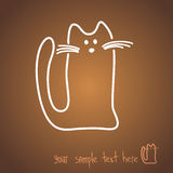 Σκίτσο μιας κόκκινης γάτας απεικόνιση αποθεμάτων