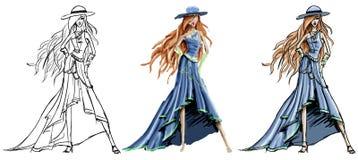 σκίτσο μόδας Στοκ εικόνες με δικαίωμα ελεύθερης χρήσης