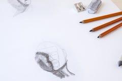 Σκίτσο ξυλάνθρακα Στοκ Εικόνες