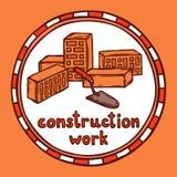 Σκίτσο οικοδόμησης κτηρίου αρχιτεκτόνων απεικόνιση αποθεμάτων