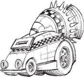 Σκίτσο οχημάτων θωρακισμένων αυτοκινήτων Στοκ Εικόνες