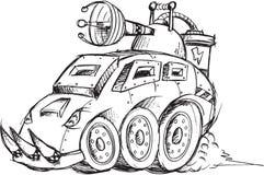 Σκίτσο οχημάτων θωρακισμένων αυτοκινήτων Στοκ Φωτογραφία