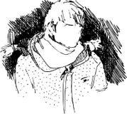 σκίτσο πορτρέτου Στοκ Φωτογραφίες