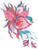 σκίτσο προτύπων λουλου& Στοκ Εικόνες