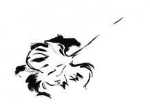 σκίτσο σειράς φύλλων μελ& Στοκ φωτογραφία με δικαίωμα ελεύθερης χρήσης