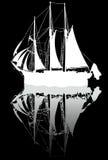 σκίτσο σκαφών Στοκ φωτογραφία με δικαίωμα ελεύθερης χρήσης