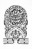 Σκίτσο στο ύφος της Πολυνησίας σε ένα άσπρο υπόβαθρο διανυσματική απεικόνιση