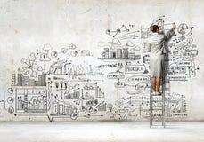Σκίτσο σχεδίων επιχειρηματιών Στοκ Εικόνα