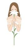 Σκίτσο τέχνης της νύφης με το άσπρο λουλούδι κρίνων Στοκ εικόνα με δικαίωμα ελεύθερης χρήσης