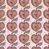 Σκίτσο της Apple υπό μορφή καρδιάς διανυσματική απεικόνιση