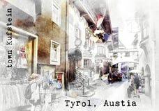 Σκίτσο του αυστριακού ταξιδιού Στοκ Φωτογραφία