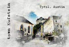 Σκίτσο του αυστριακού ταξιδιού Στοκ Εικόνες