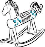 Σκίτσο του αλόγου λικνίσματος παιδιών Στοκ Εικόνα