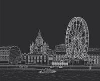 Σκίτσο του Ελσίνκι Στοκ φωτογραφίες με δικαίωμα ελεύθερης χρήσης