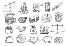 Σκίτσο του επιχειρησιακού συνόλου απεικόνιση αποθεμάτων