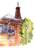 Σκίτσο του κτηρίου πόλεων Στοκ Φωτογραφία